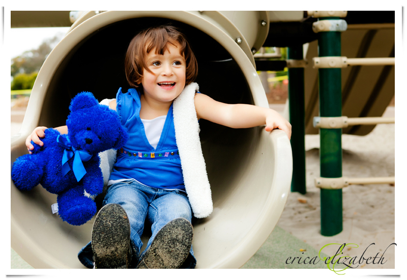 San Deguito Park is a great place for little kids and family portraits