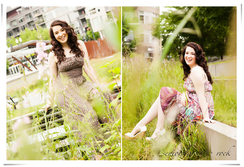 Tanner Springs Park is perfect for high school senior portraits