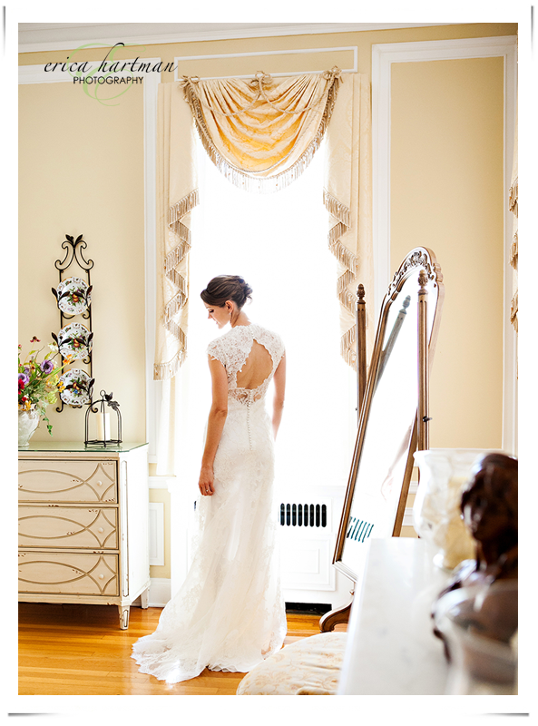 Beautiful Bride in glowing light at Oxon Hill Manor.  Washington DC wedding photographer.