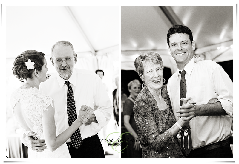 Father daughter and mother son dances. Washington DC Wedding Photographer